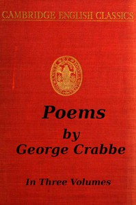 Cover of George Crabbe: Poems, Volume 2 (of 3)