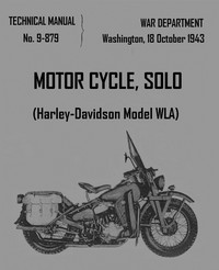 Cover of Motorcycle, Solo (Harley-Davidson Model WLA)