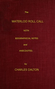 Cover of The Waterloo Roll CallWith Biographical Notes and Anecdotes