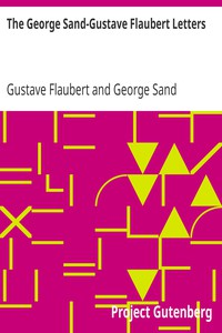 Cover of The George Sand-Gustave Flaubert Letters
