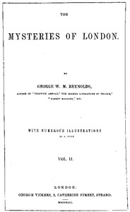 Cover of The Mysteries of London, v. 2/4