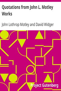 Cover of Quotations from John L. Motley Works