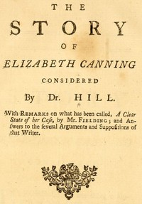 Cover of The Story of Elizabeth Canning Considered