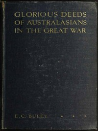 Cover of Glorious Deeds of Australasians in the Great War
