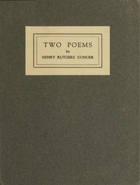 Cover of Two Poems: Class Day Poem; The Purple Hills