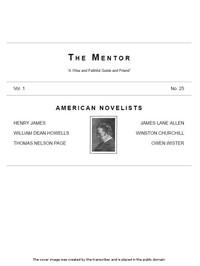 The Mentor: American Novelists, Vol. 1, No. 25