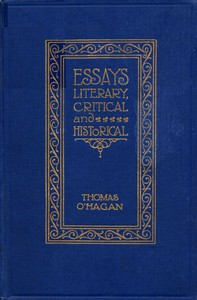 Essays Literary, Critical and Historical