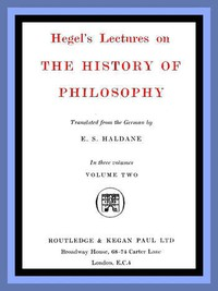Cover of Hegel's Lectures on the History of Philosophy: Volume 2 (of 3)