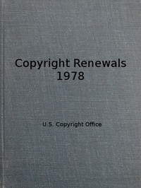 Cover of Copyright Renewals 1978