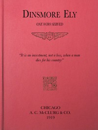 Cover of Dinsmore Ely, One Who Served