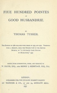 Fiue Hundred Pointes of Good Husbandrie