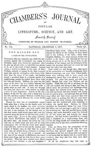 Cover of Chambers's Journal of Popular Literature, Science, and Art, No. 728, December 8, 1877