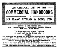 Cover of An abridged list of Commercial Handbooks of Sir Isaac Pitman & Sons, Ltd.