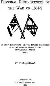 Cover of Personal Reminiscences of the War of 1861-5In Camp—en Bivouac—on the March—on Picket—on the Skirmish Line—on the Battlefield—and in Prison