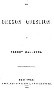 Cover of The Oregon Question