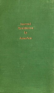 Cover of Journal of a Residence in America