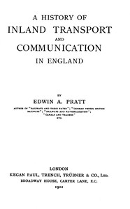 Cover of A History of Inland Transport and Communication in England