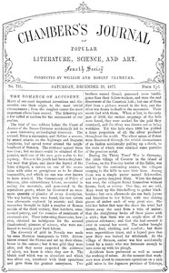Chambers's Journal of Popular Literature, Science, and Art, No. 731December 29, 1877