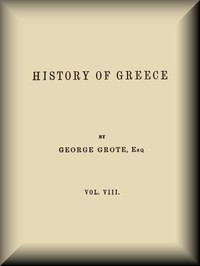 Cover of History of Greece, Volume 08 (of 12)
