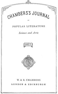 Cover of Chambers's Journal of Popular Literature, Science, and Art, Index for 1877