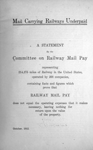 Cover of Mail Carrying Railways Underpaid