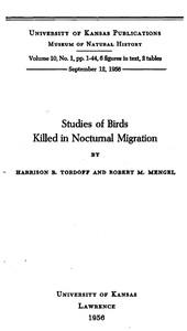 Studies of Birds Killed in Nocturnal Migration
