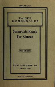 Cover of Susan Gets Ready for Church: A Monologue