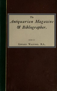 Cover of The Antiquarian Magazine & Bibliographer; Vol. 4, July-Dec 1884