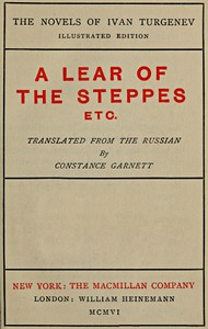 A Lear of the Steppes, etc.