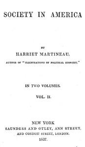 Cover of Society in America, Volume 2 (of 2)
