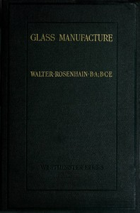 Cover of Glass Manufacture