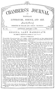 Chambers's Journal of Popular Literature, Science, and Art, No. 732January 5, 1878