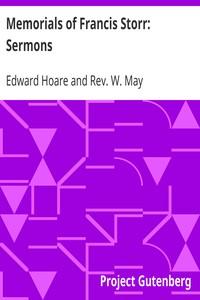 Cover of Memorials of Francis Storr: Sermons