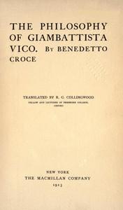 Cover of The Philosophy of Giambattista Vico