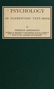 Cover of Psychology: an elementary text-book