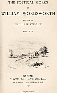 Cover of The Poetical Works of William Wordsworth — Volume 8 (of 8)