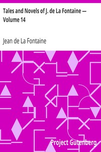Cover of Tales and Novels of J. de La Fontaine — Volume 14