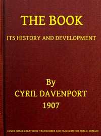 Cover of The Book: Its History and Development