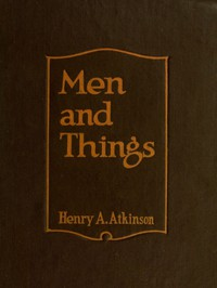 Cover of Men and Things