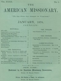 The American Missionary — Volume 32, No. 01, January, 1878