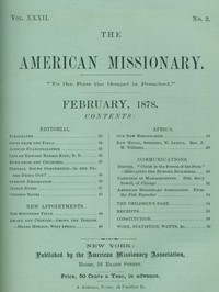 The American Missionary — Volume 32, No. 02, February, 1878