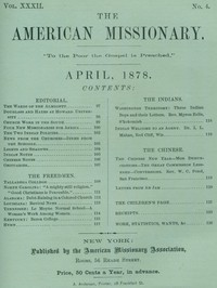 The American Missionary — Volume 32, No. 04, April 1878