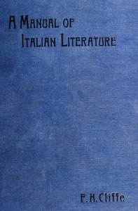 Cover of A Manual of Italian Literature