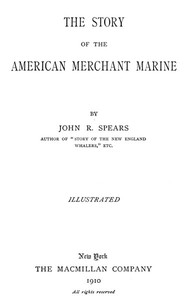 Cover of The Story of the American Merchant Marine