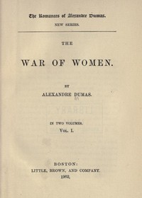 Cover of The War of Women, Volume 1