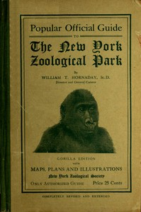 Cover of Popular Official Guide to the New York Zoological Park (September 1915)Thirteenth Edition