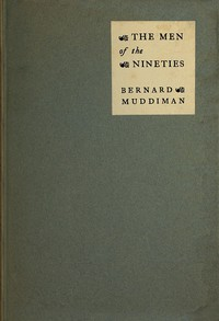 Cover of The Men of the Nineties