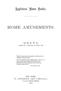 Cover of Home Amusements