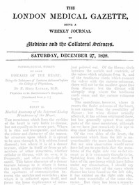 Cover of The London Medical Gazette; December 27, 1828Being a Weekly Journal of Medicine and the Collateral Sciences