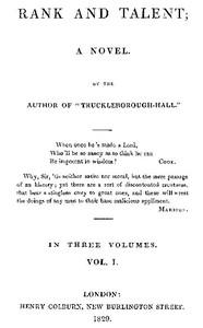 Rank and Talent; A Novel, Vol. 1 (of 3)
